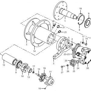 Waaiermotor met ophanging